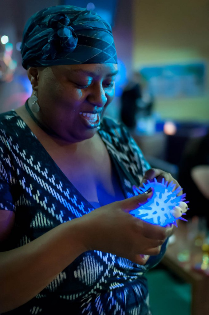 BiCon bisexuality convention - person playing with glowing, spiky ball