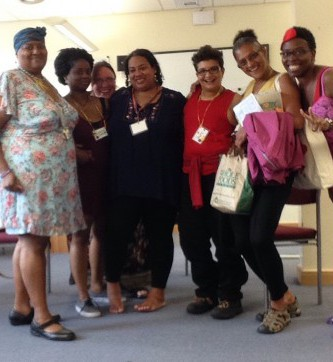 Bisexuals of Colour at BiCon - group shot with Jacq on the far left